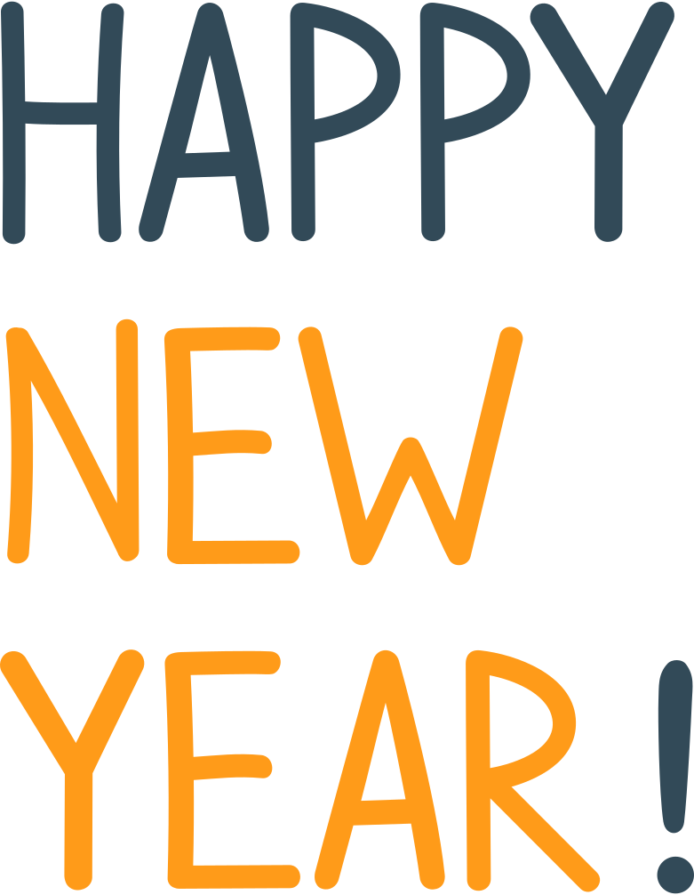 happy new year Clipart illustration in PNG, SVG