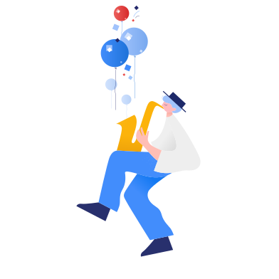 style Trumpeter who brings fun images in PNG and SVG | Icons8 Illustrations