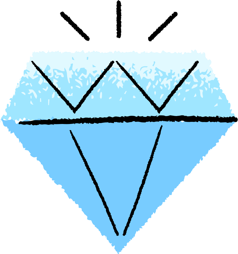 diamond Clipart illustration in PNG, SVG