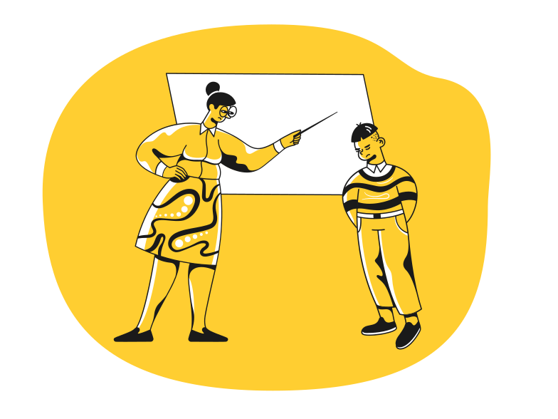 Boy didn't do his homework Clipart illustration in PNG, SVG