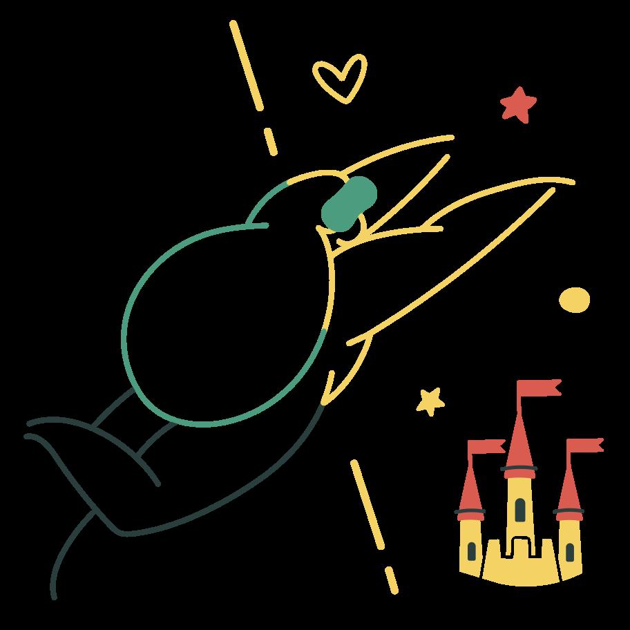 Fantasy world Clipart illustration in PNG, SVG