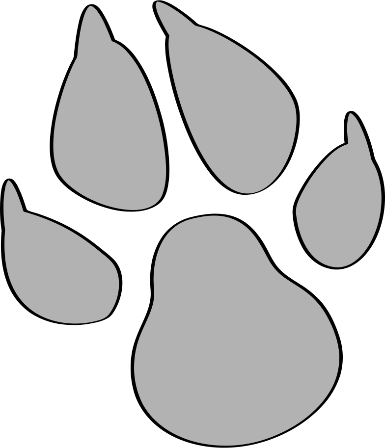 the dog's trail Clipart illustration in PNG, SVG