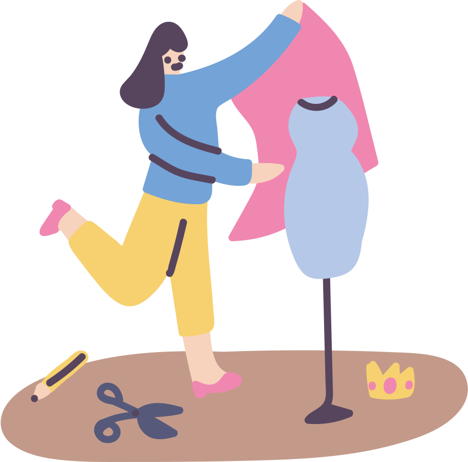 Fashion making, having a job Clipart illustration in PNG, SVG