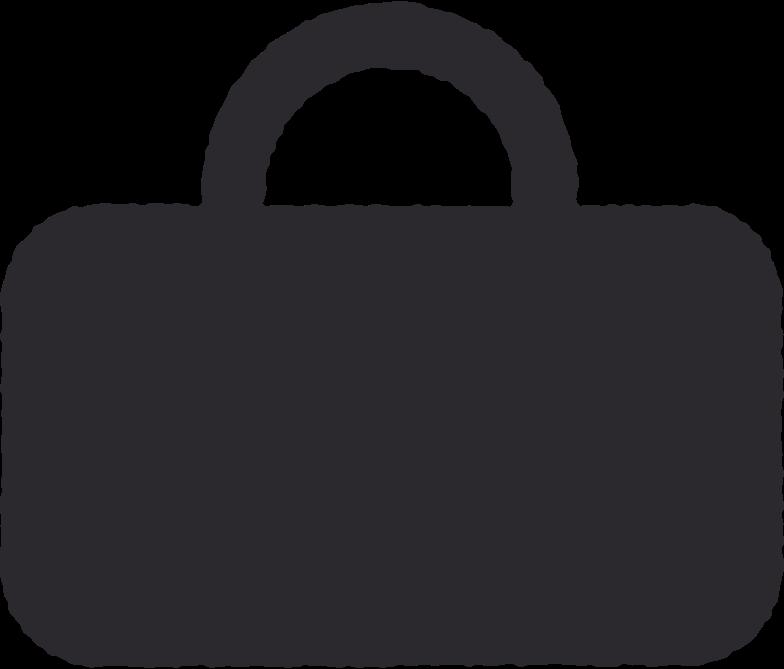 black briefcase Clipart illustration in PNG, SVG