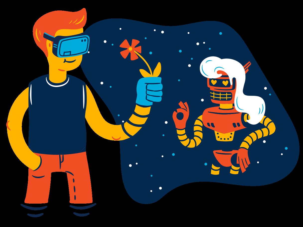 VR date Clipart illustration in PNG, SVG