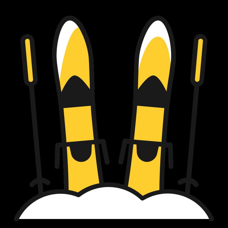 ski Clipart illustration in PNG, SVG
