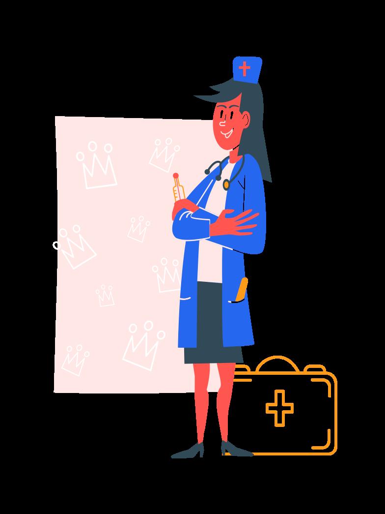 Royal doctor Clipart illustration in PNG, SVG