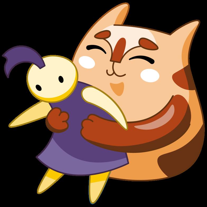 Hug Clipart illustration in PNG, SVG
