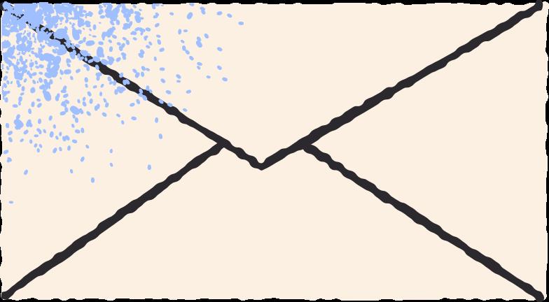 Illustration clipart courrier aux formats PNG, SVG