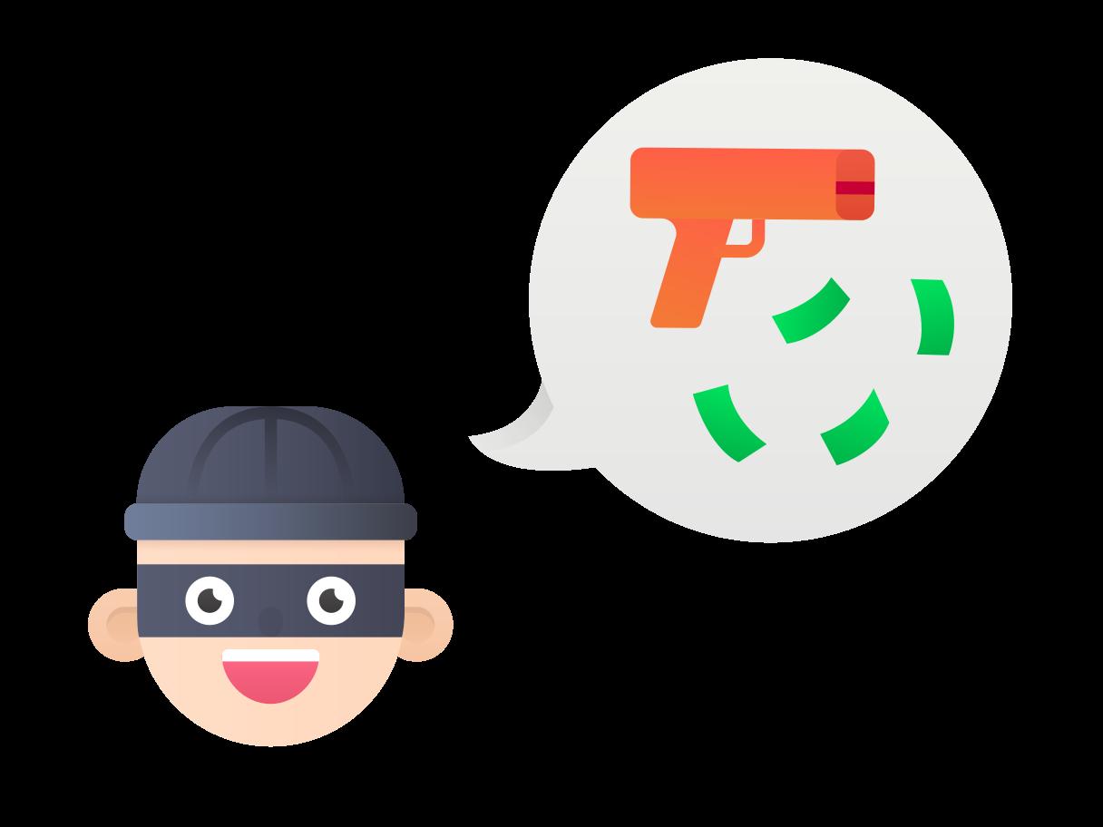 Robber Clipart illustration in PNG, SVG
