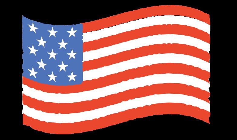 waving flag Clipart illustration in PNG, SVG