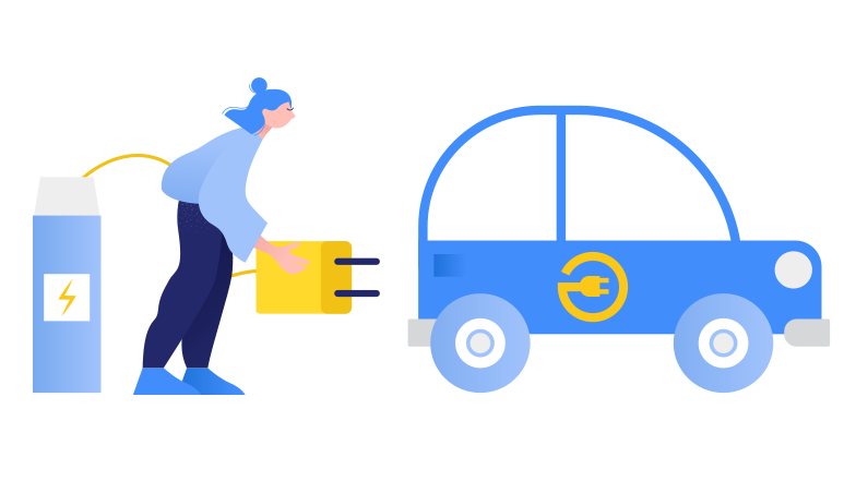 style Electric car charging Vector images in PNG and SVG | Icons8 Illustrations