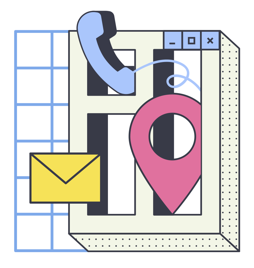 Contacts Clipart illustration in PNG, SVG