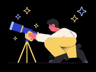 Иллюстрация Прекрасный телескоп в стиле  в PNG и SVG   Icons8 Иллюстрации