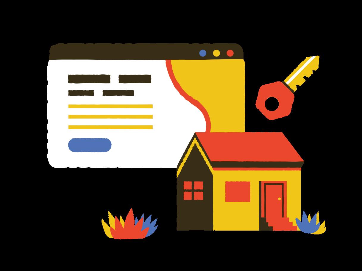 Online Property For Sale Clipart illustration in PNG, SVG