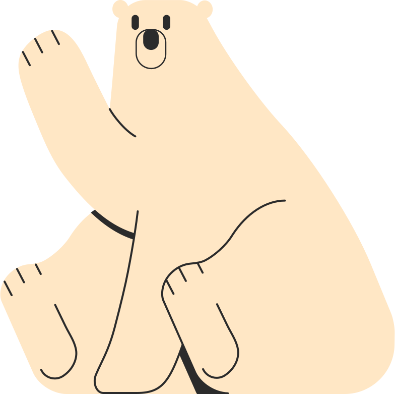polar bear Clipart illustration in PNG, SVG