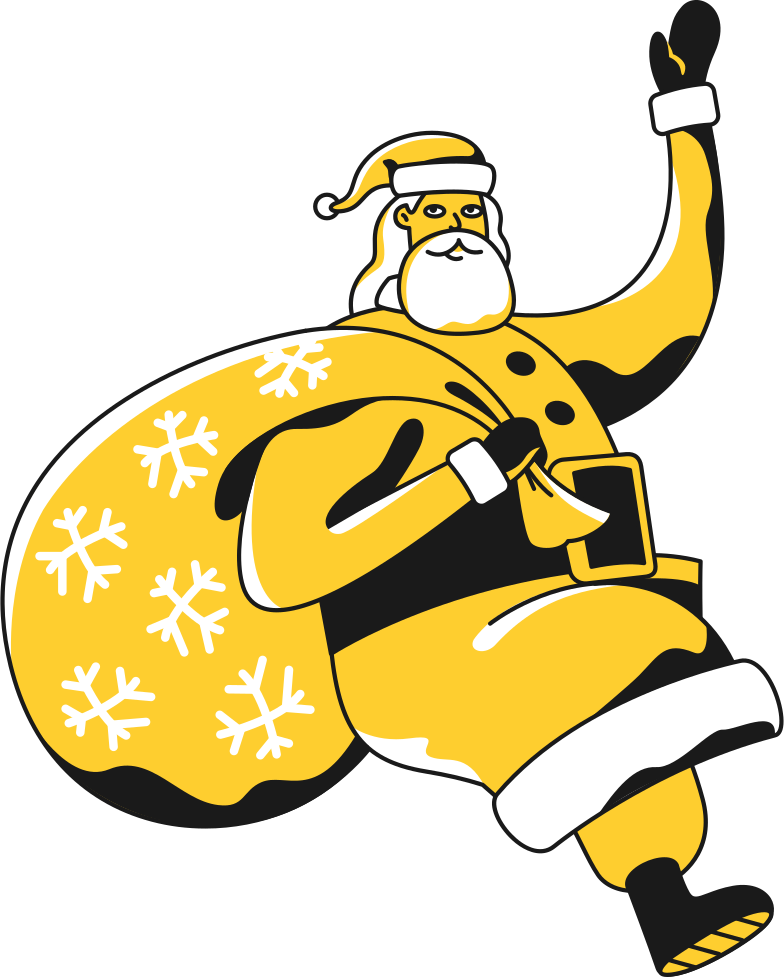 merry christmas  santa Clipart illustration in PNG, SVG
