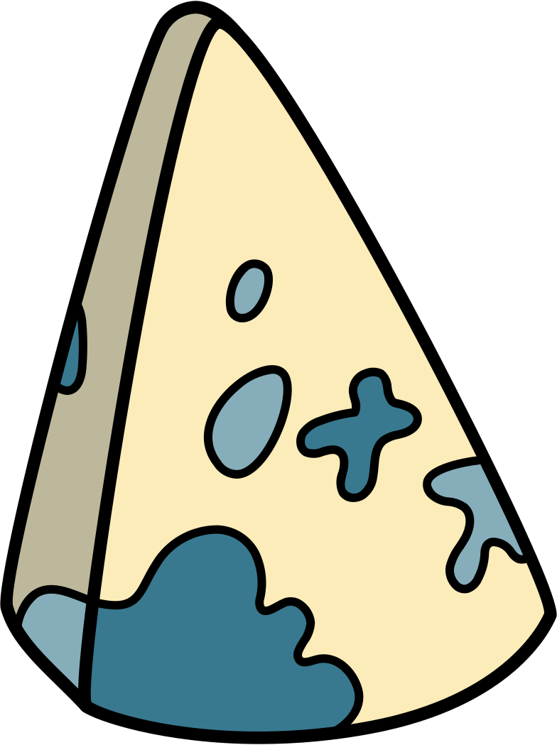 cheese with mold blue Clipart illustration in PNG, SVG