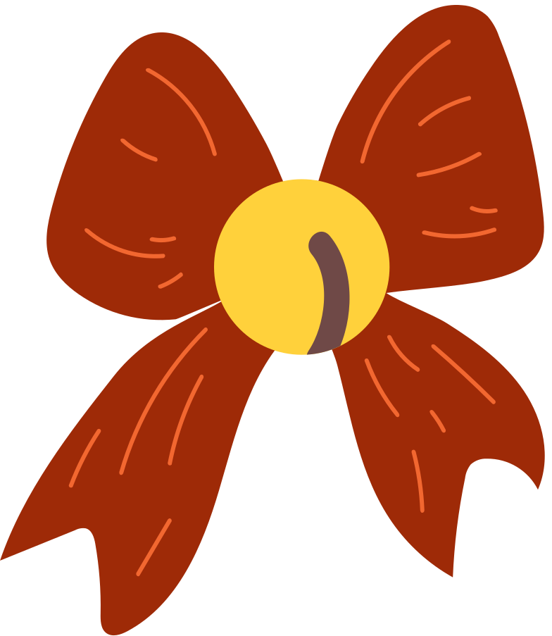 bell bow Clipart illustration in PNG, SVG