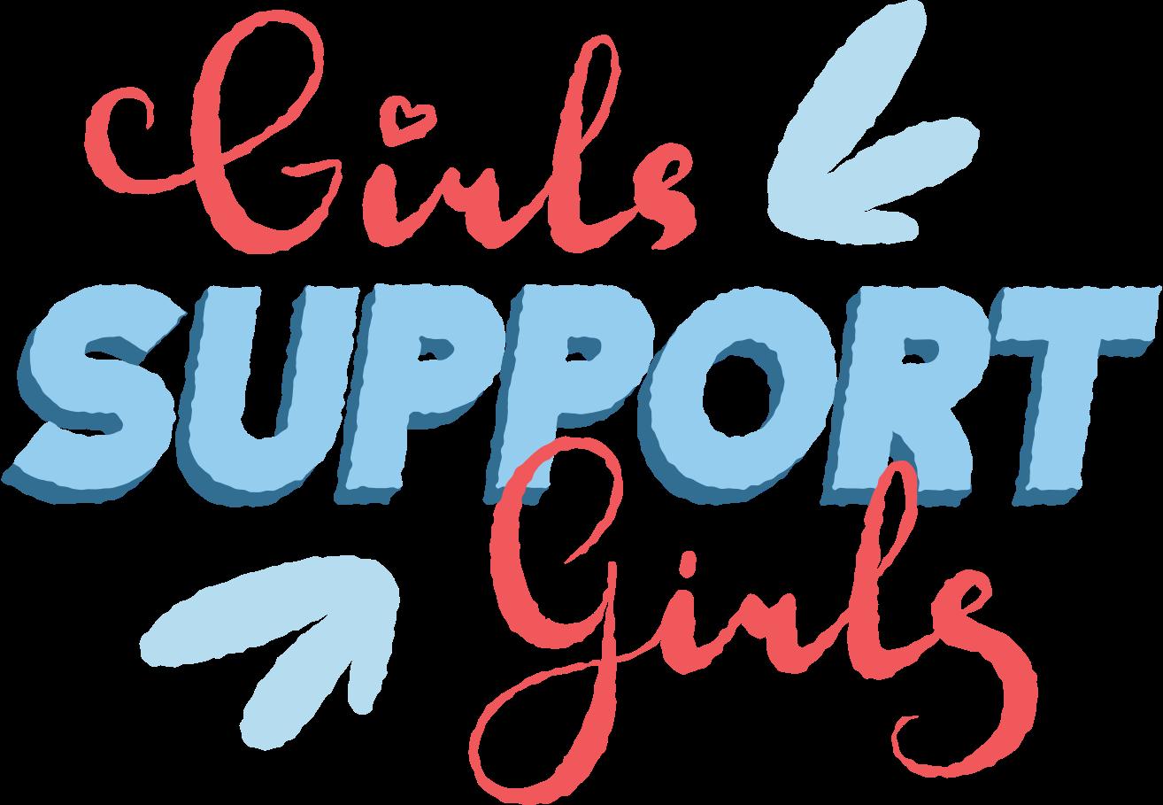 girls support girls cursive Clipart illustration in PNG, SVG