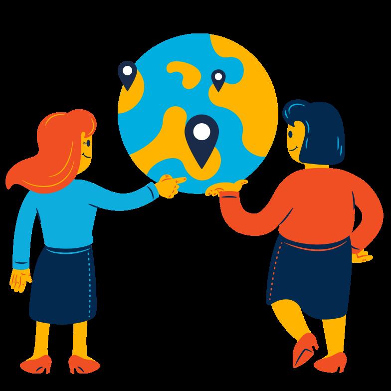 Travel together Clipart illustration in PNG, SVG