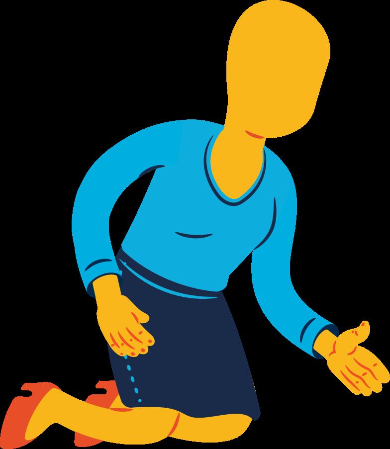 Illustration clipart woman sitting aux formats PNG, SVG