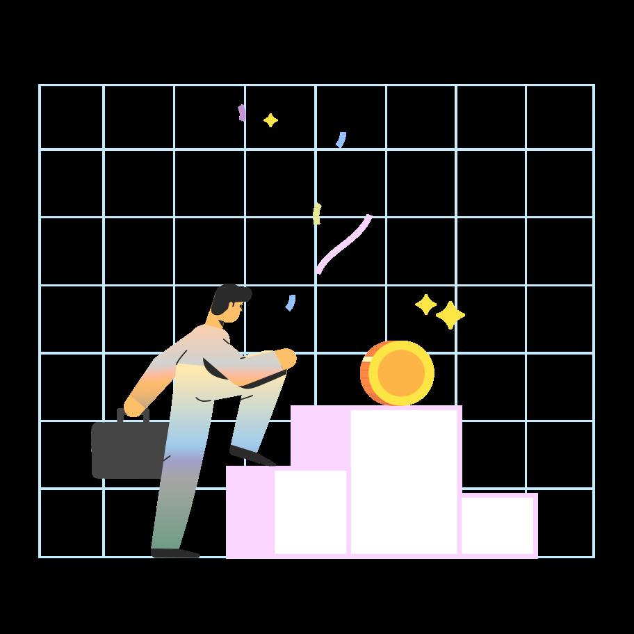 Imágenes vectoriales el objetivo es el dinero. en PNG y SVG estilo  | Ilustraciones Icons8