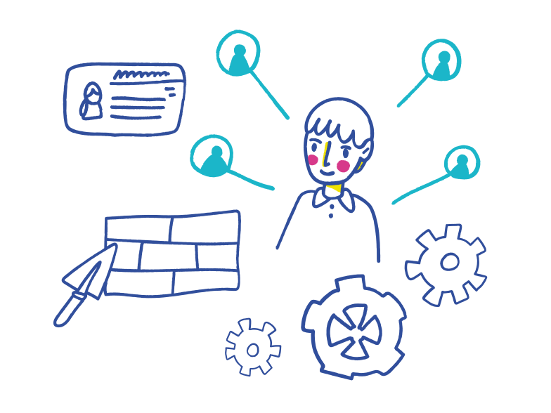 Team building Clipart illustration in PNG, SVG