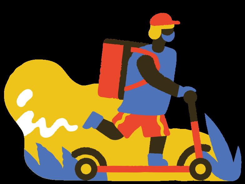 Immagine Vettoriale consegna del cibo in PNG e SVG in stile  | Illustrazioni Icons8