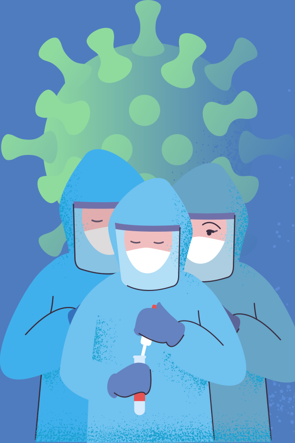Antivirus Scientists Clipart illustration in PNG, SVG