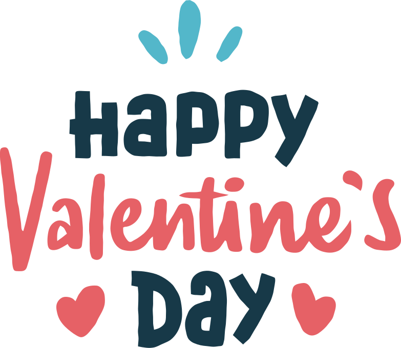 happy valentine's day Clipart illustration in PNG, SVG