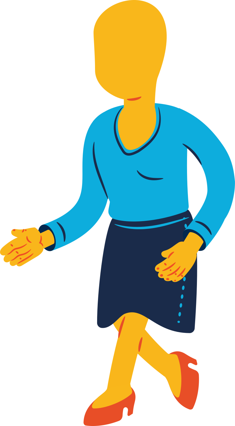 woman walking Clipart illustration in PNG, SVG