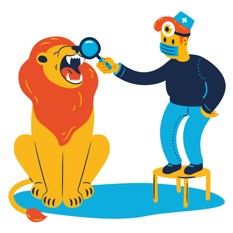 At the dentist Clipart illustration in PNG, SVG