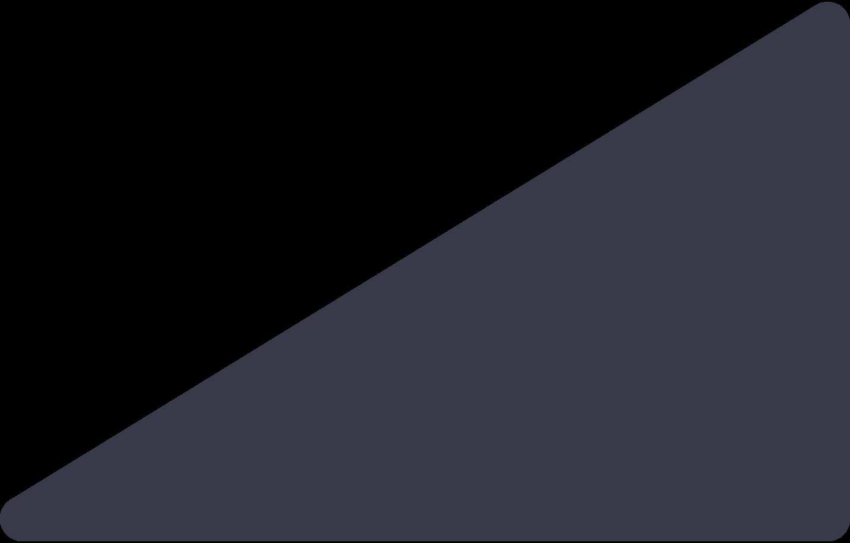 Ilustración de clipart de Triagnle negro en PNG, SVG