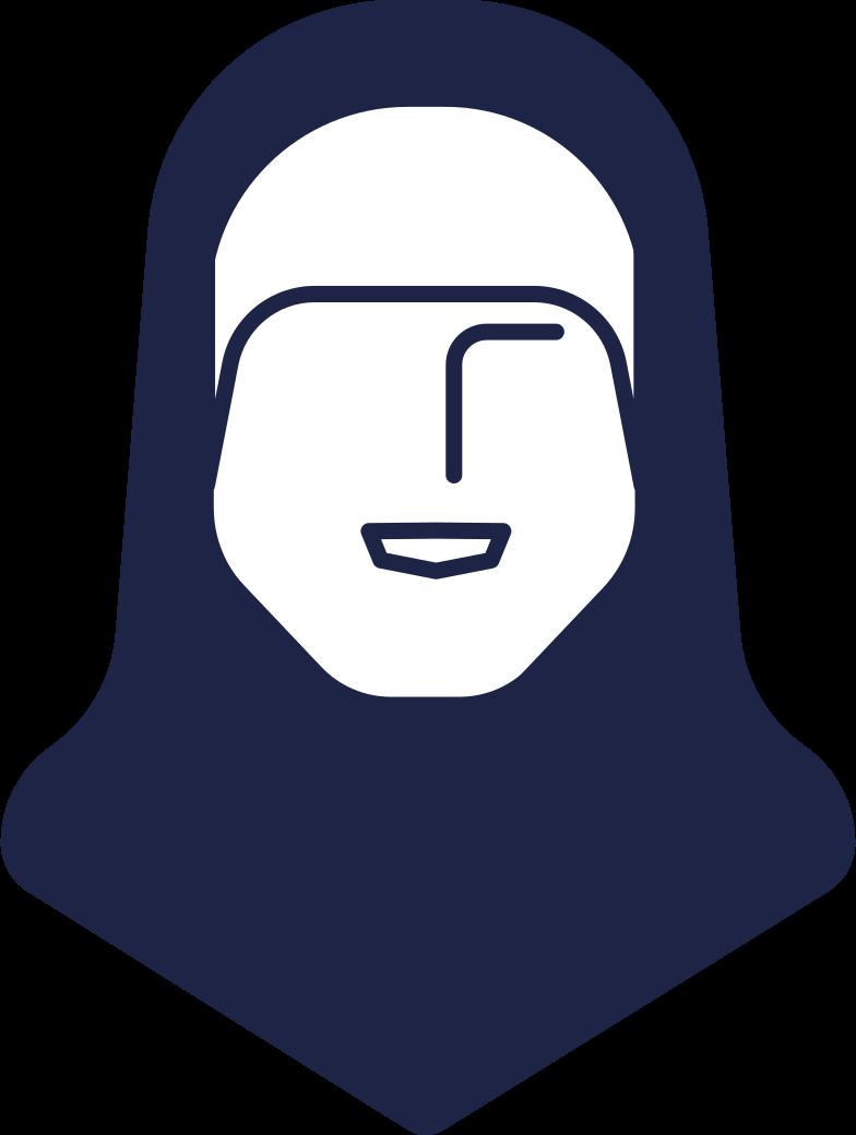 PNGとSVGの  スタイルの ヒジャーブの女性の頭 ベクターイメージ | Icons8 イラスト