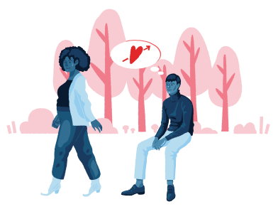 style Falling in love with a stranger images in PNG and SVG | Icons8 Illustrations