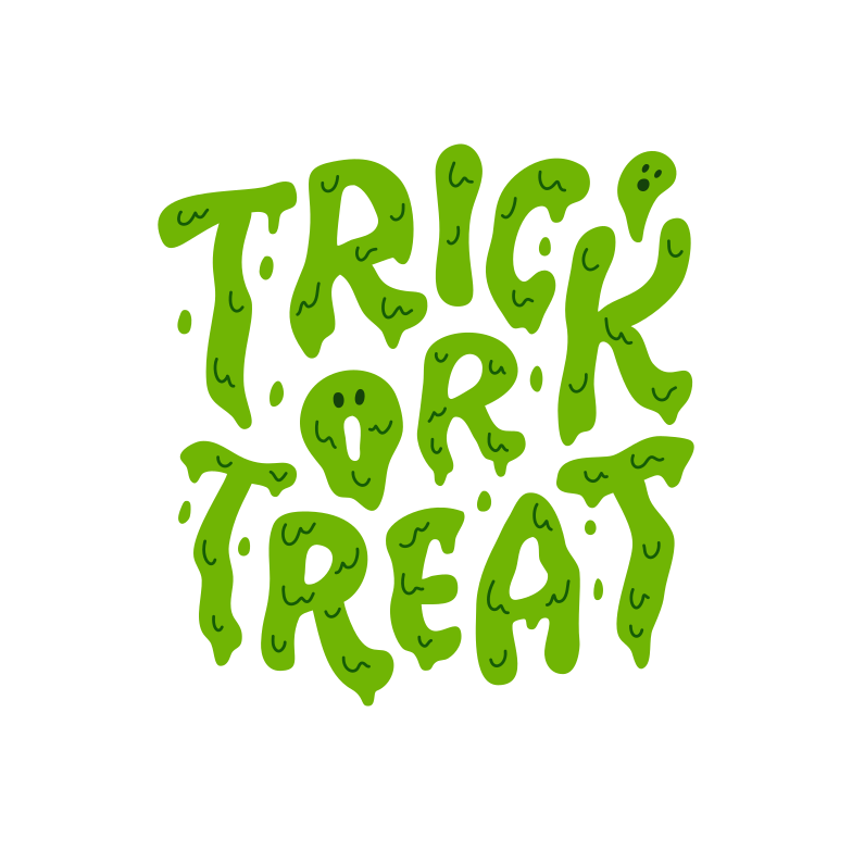 trick or treat ghost green Clipart illustration in PNG, SVG