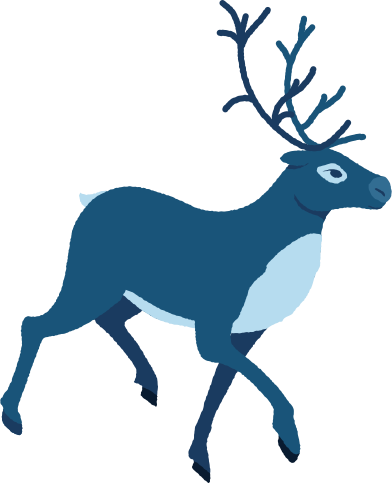 style reindeer running profile images in PNG and SVG | Icons8 Illustrations