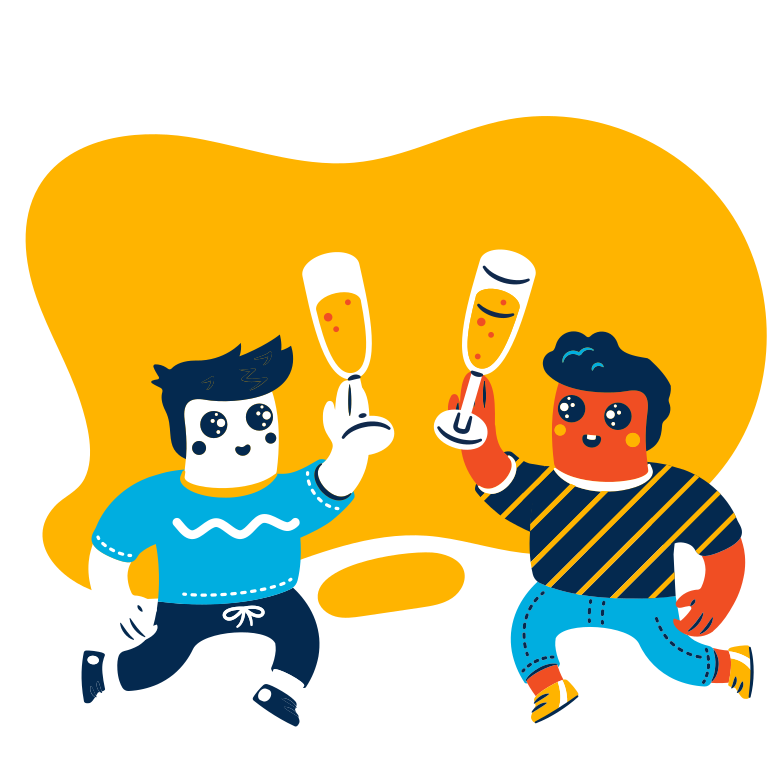 Drink party Clipart illustration in PNG, SVG