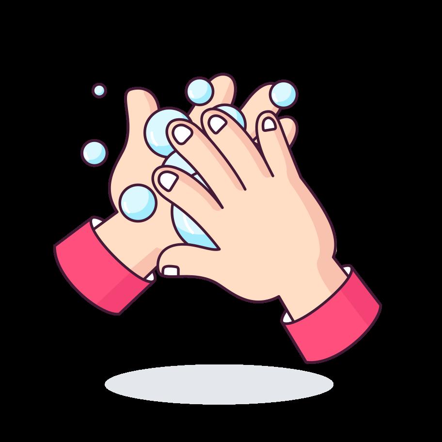 Wash your hands! Clipart illustration in PNG, SVG