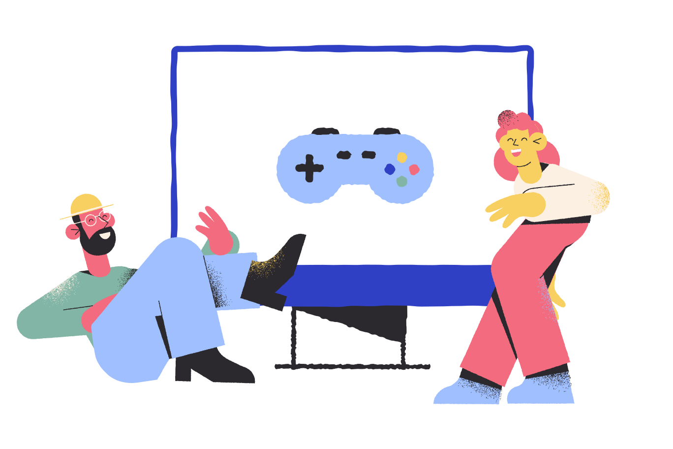 Enjoying the game Clipart illustration in PNG, SVG