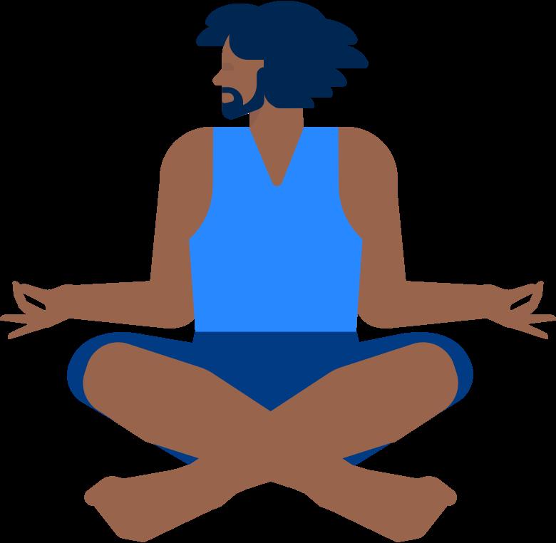 yoga man Clipart-Grafik als PNG, SVG