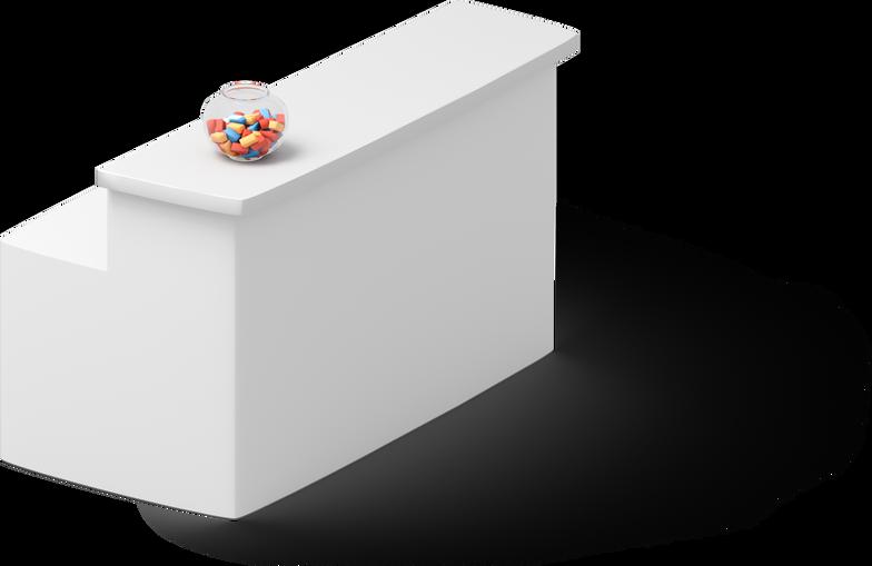 Reception desk Clipart illustration in PNG, SVG