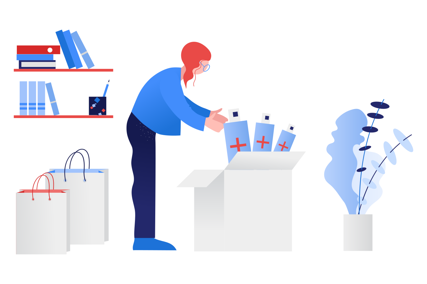 style Woman preparing stock of antiseptics Vector images in PNG and SVG   Icons8 Illustrations