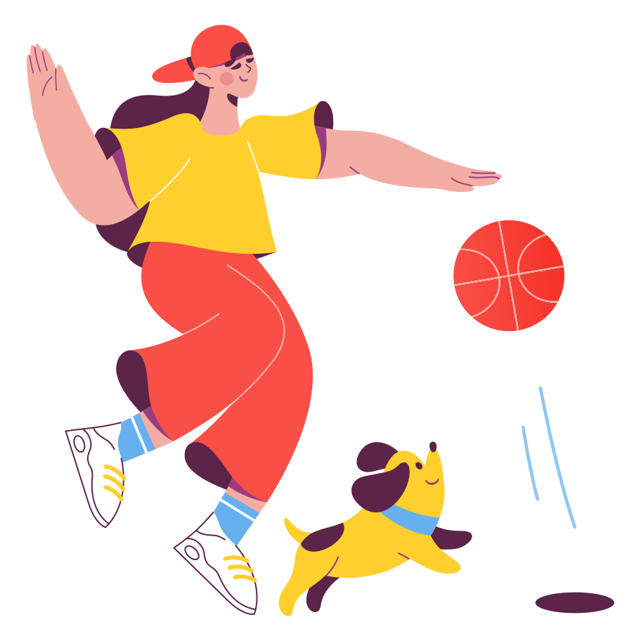 style Playing basketball Vector images in PNG and SVG   Icons8 Illustrations