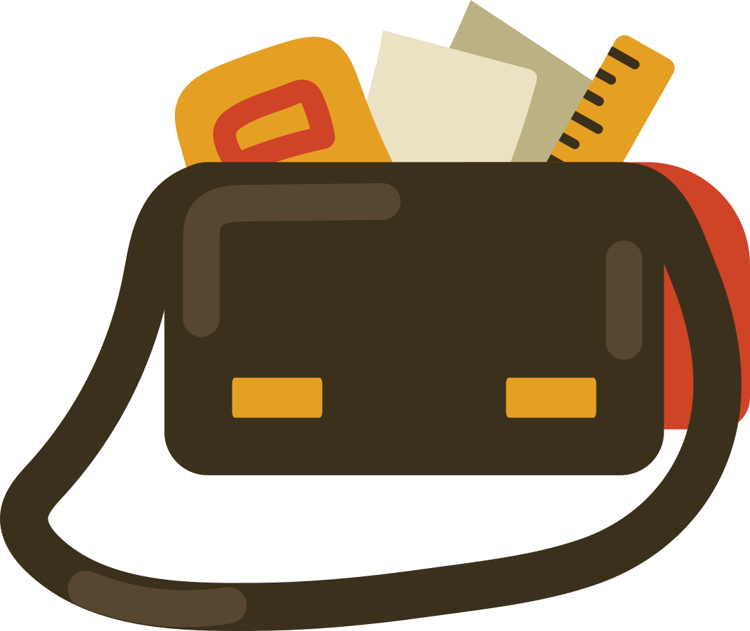 bag with books Clipart illustration in PNG, SVG