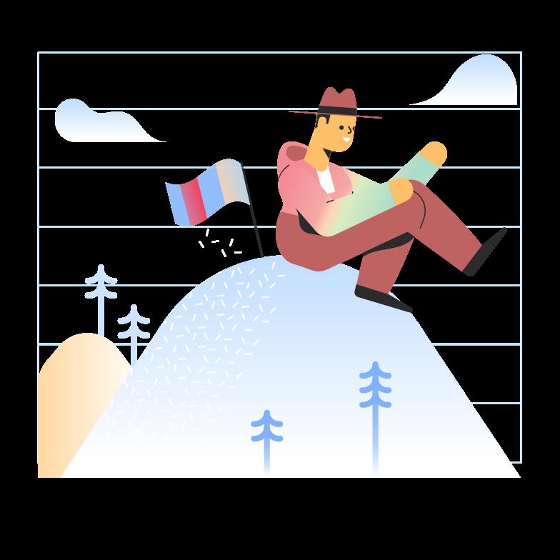 Alcançando a meta Clipart illustration in PNG, SVG