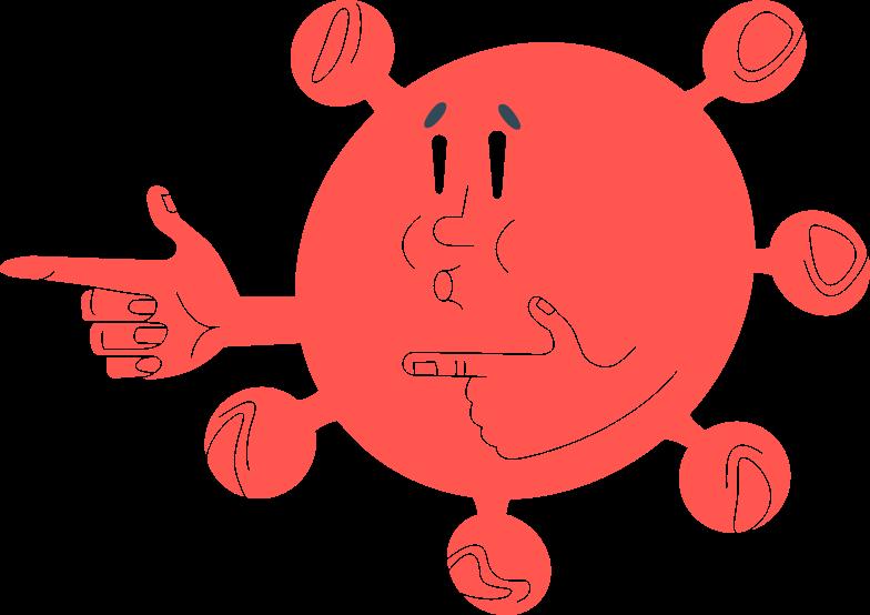 coronavirus large Clipart illustration in PNG, SVG