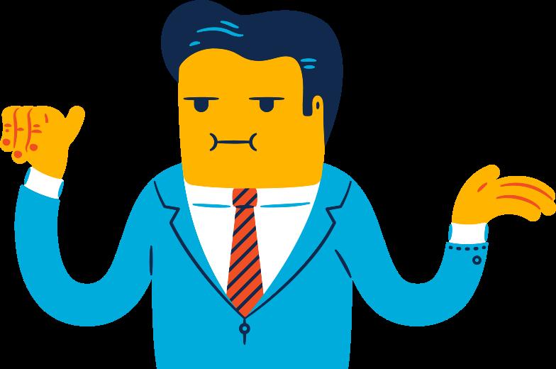 Ilustração de clipart de homem político em PNG e SVG