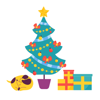 style Christmas gifts under the tree images in PNG and SVG | Icons8 Illustrations